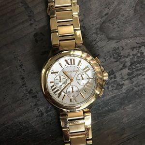 Michael Kors Gold Large Face Women's Watch